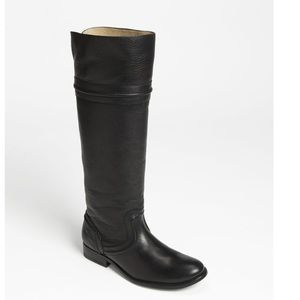 Frye Melissa Trapunto Black Leather Boots